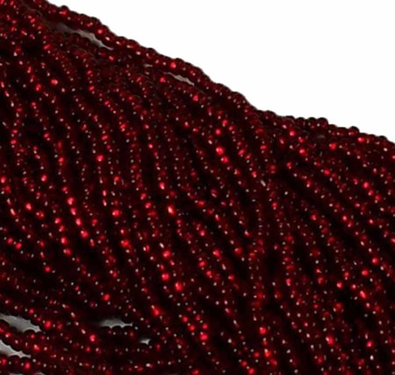 Garnet Red Silver Lined Czech 8/0 Glass Seed Beads 12 Strand Hank Preciosa SB8-97120