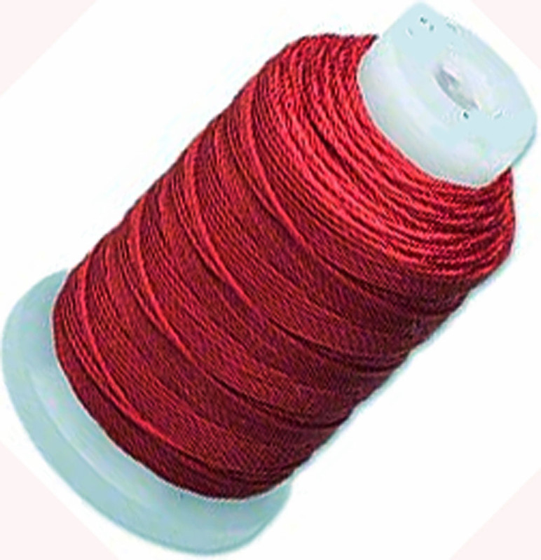 Silk Beading Thread Cord Size E Maroon 0.0128 Inch 0.325mm Spool 200 Yd 5034BS