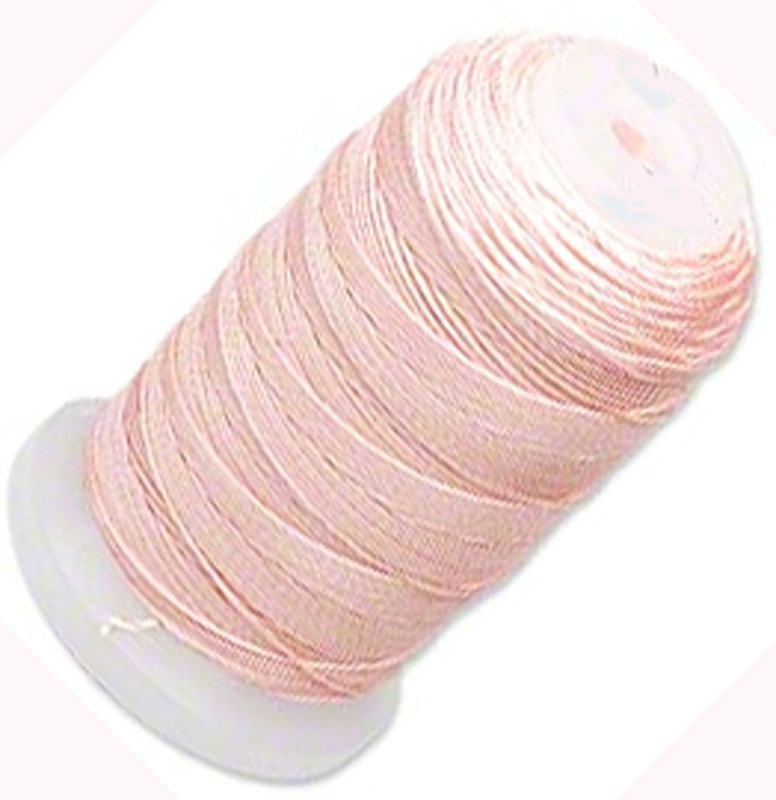 Simply Silk Beading Thread Cord Size FF Pink 0.015 Inch 0.38mm Spool 115 Yards for Stringing Weaving Knotting 5056BS