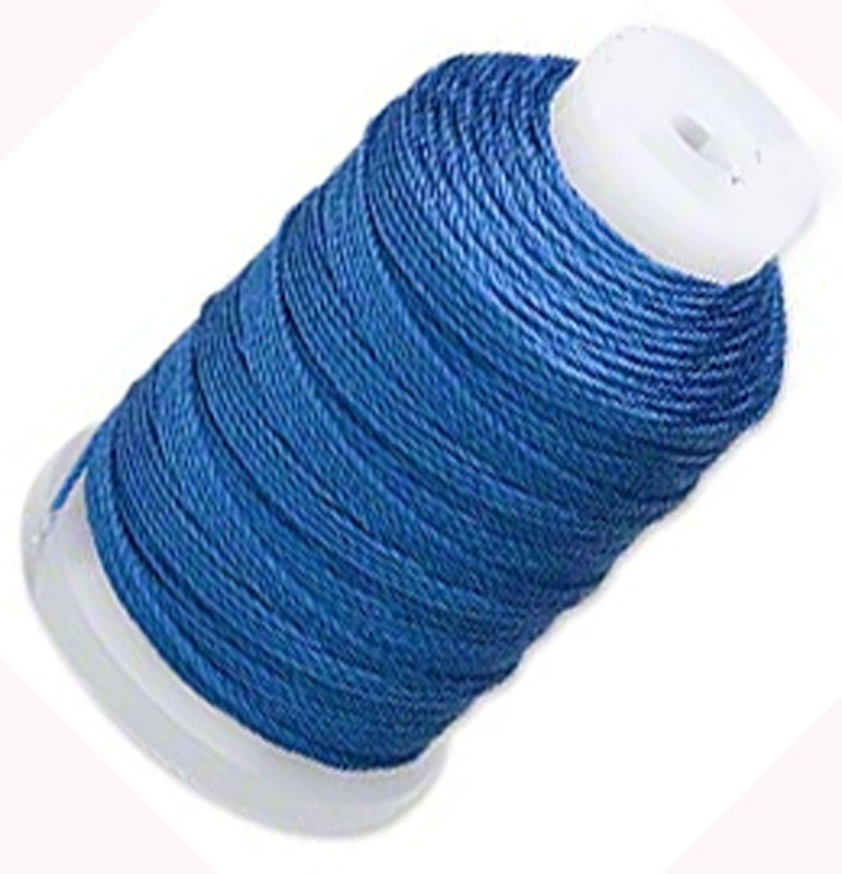 Silk Beading Thread Cord Size E Royal Blue 0.0128 Inch 0.325mm Spool 200 Yd 5124BS