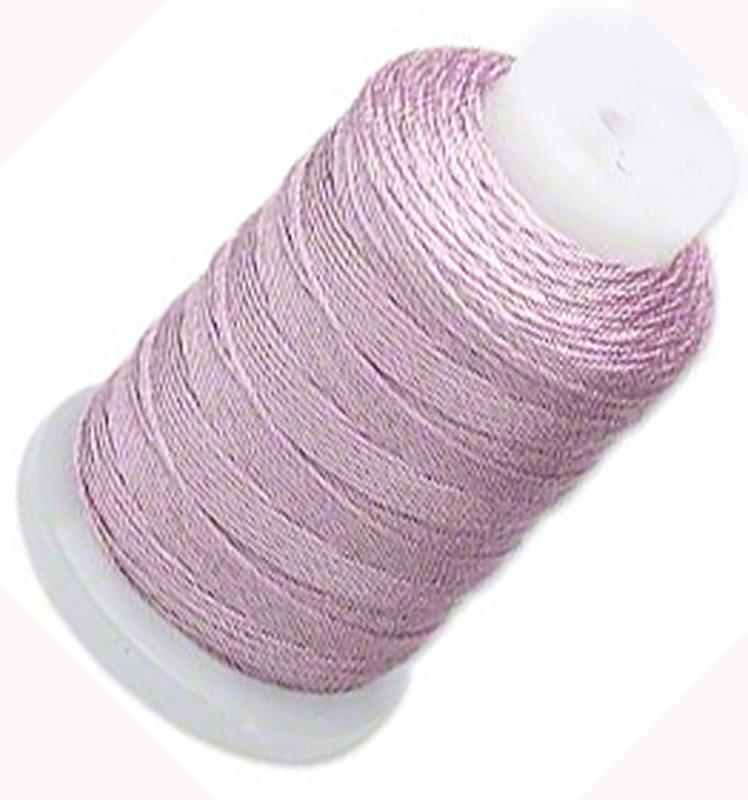 Silk Beading Thread Cord Size F Lilac 0.0137 0.3480mm Spool 140 Yd 5153BS