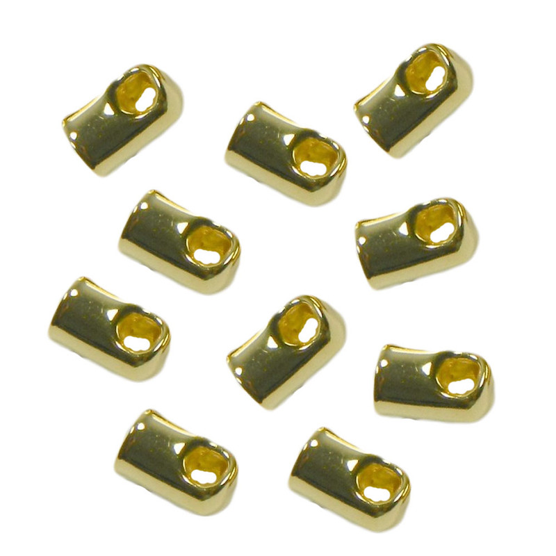 100 Cord End/tip Gold-plated Glue-in Style 7x4mm 3mm Inside DI 1955FN