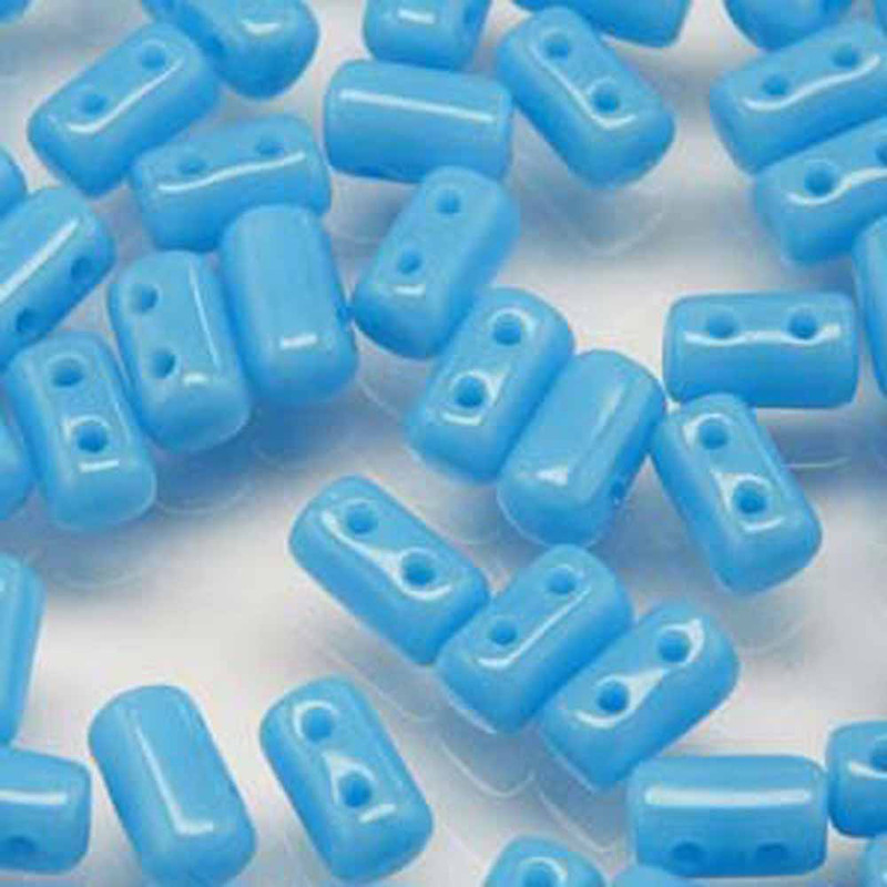 Rulla TURQUOISE BLUE Czech Glass Seed Beads 3x5mm 20 Gram Tube (2 Hole)