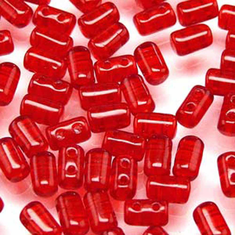 Rulla RUBY Czech Glass Seed Beads 3x5mm 20 Gram Tube (2 Hole)