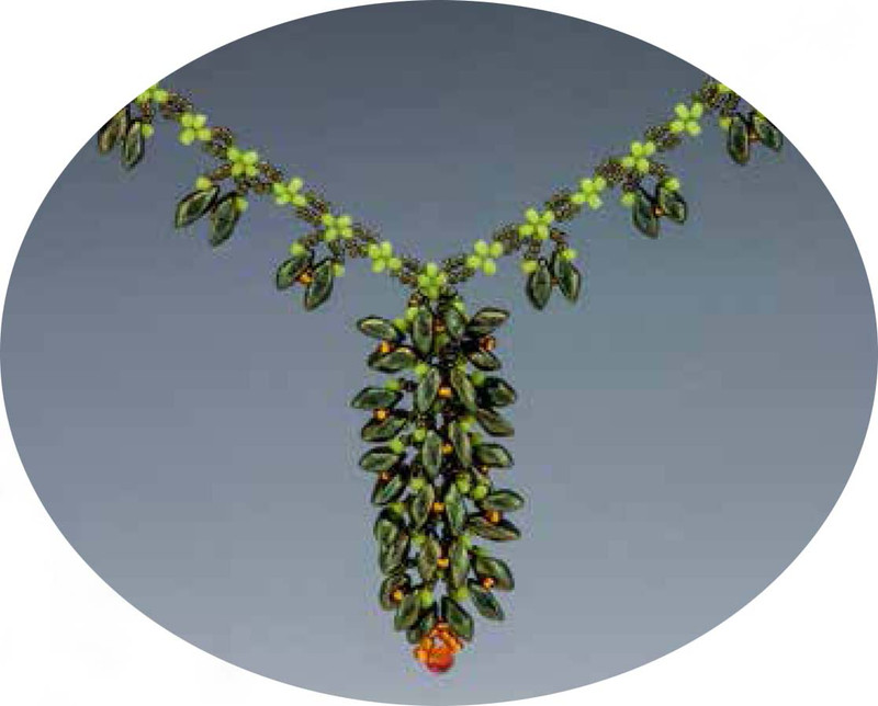 BLOOMING VINES NECKLACE - Free Jewelry Making Project complements of Bead Smith(R)