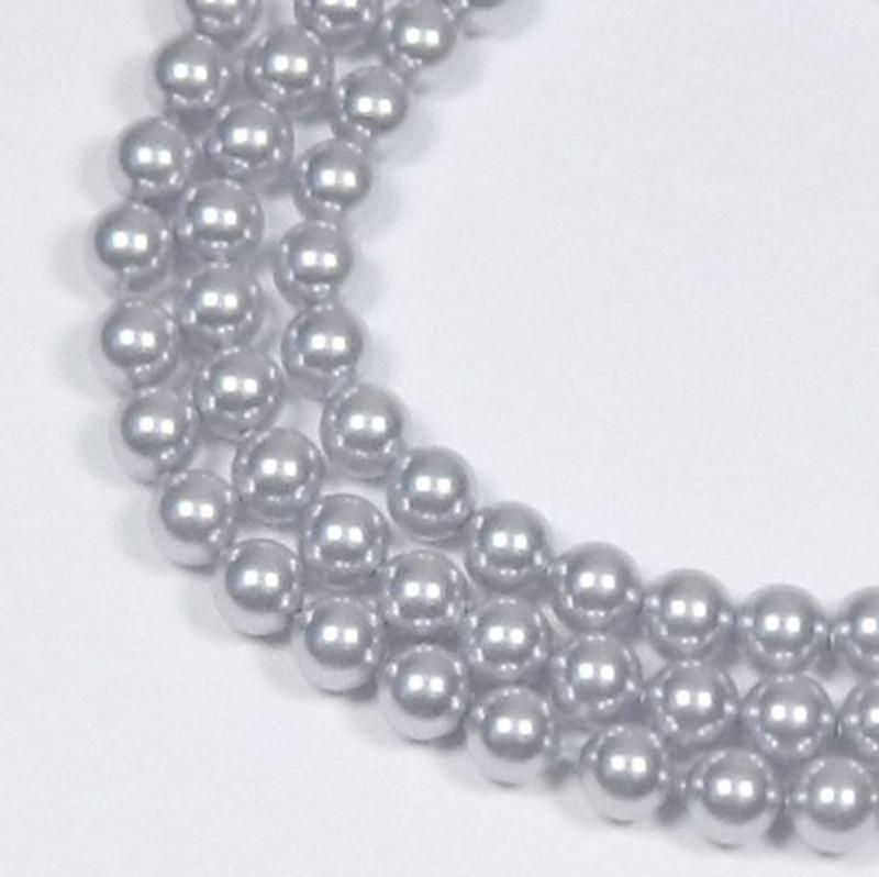 "100 Swarovski Crystal Pearls 4mm Round Beads 5810. 16"" Loose Strand Lavender 581004LAV"