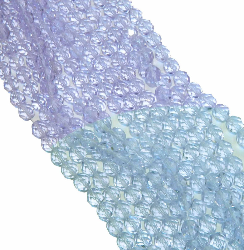 24 Firepolish Faceted Czech Glass Beads 8mm Alexandrite