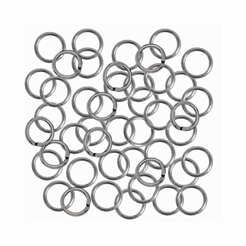 24 grams Opened Stainless Steel Jump Rings 18 Guage 6mm OD 240pc