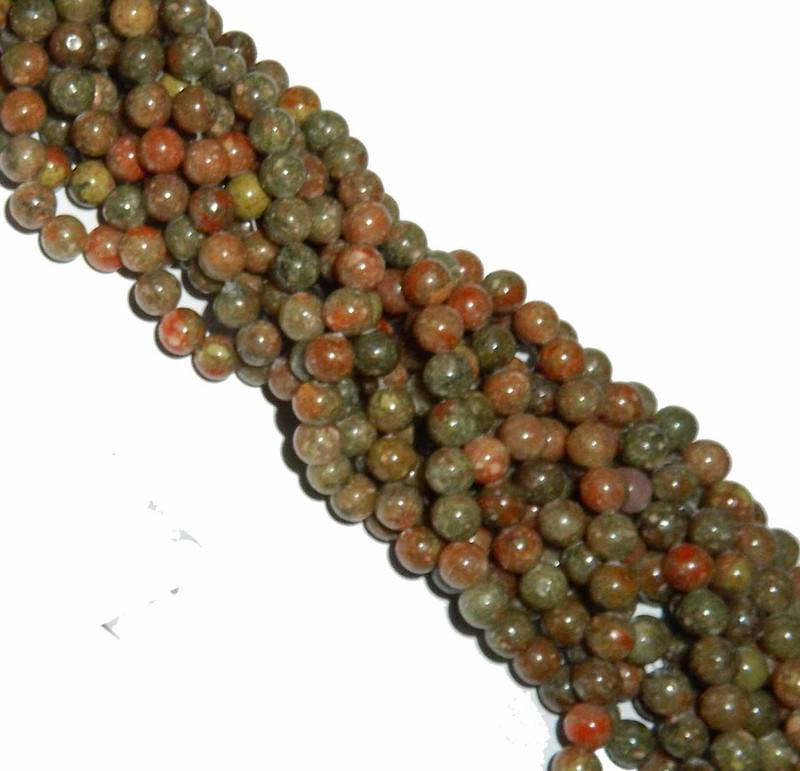 """10mm Epidot Jasper  Round Beads 40cm 15"""" Gemstone"""