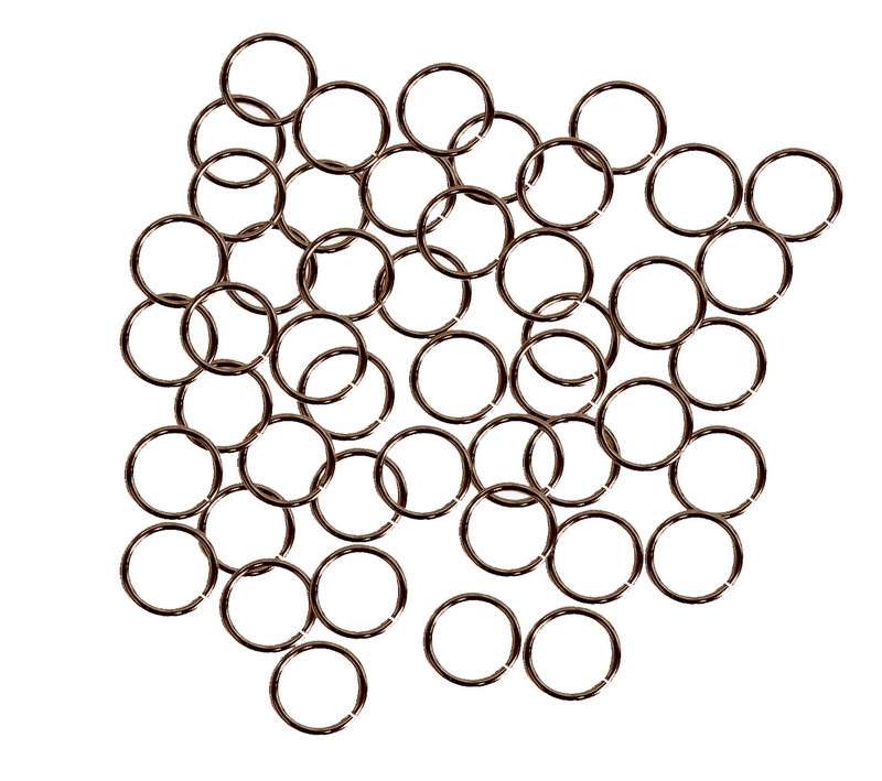 400 Jump Rings Antique Copper Plated Brass 12mm Round 16 Gauge. Jewelry Connectors Chain Links