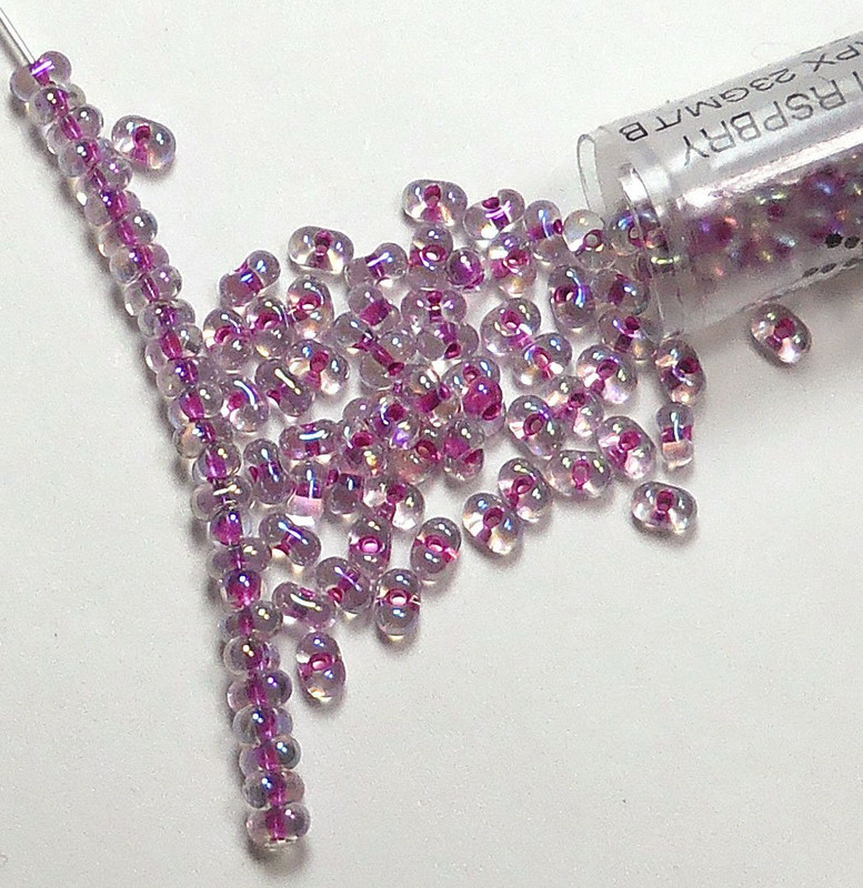 Raspberry Lined Crystal Ab Miyuki Berry Bead 2.5x4.5mm Seed Bead Glass 22 Gram