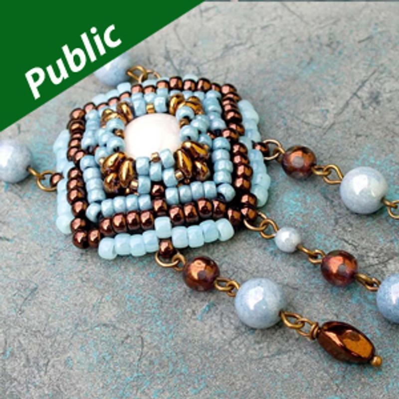 CASABLANCA PENDANT Bracelet Free Jewelry Instructions for SuperDuo Matubo