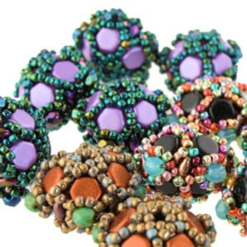 CAROUSEL BEADED BEADS - Free Jewelry Making Project complements of Bead Smith(R)