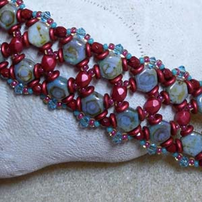 Honey of a Bracelet Free Jewelry Making Project complements of Bead Smith(R)