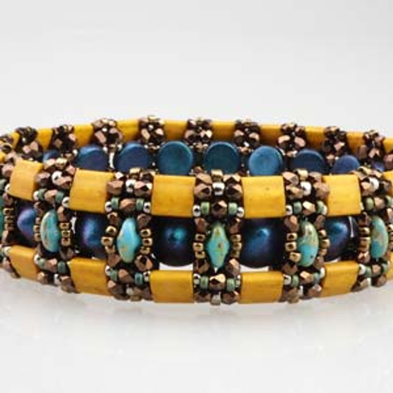 Charlestone Cuff - Free Jewelry Making Project complements of Bead Smith(R)