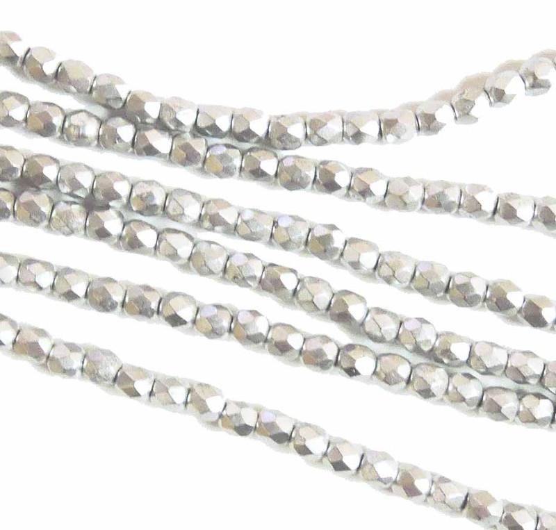 Full Labradore 3mm Faceted Firepolish Czech Glass 48 beads 6-FPR0300030-27000