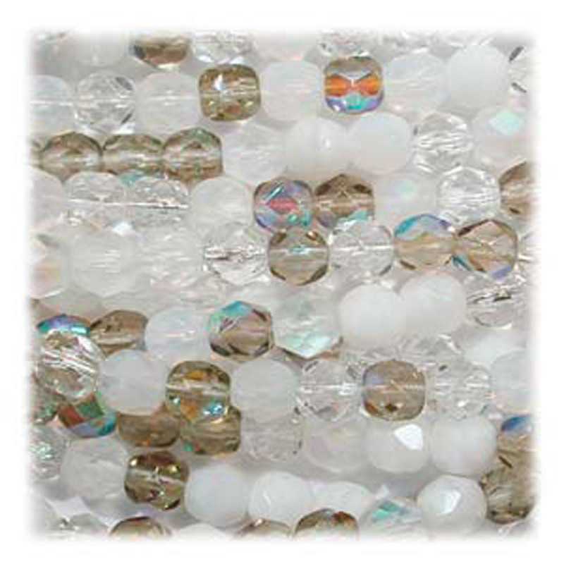 Aparation Mix 48 Czech 10mm Faceted Round Firepolished Glass Beads