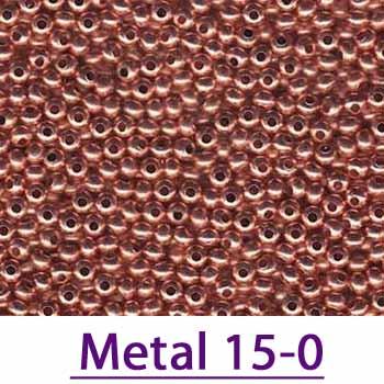 15/0 Metal Seed Beads