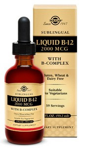 Solgar Liquid B12 2000mcg 59ml
