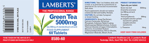 Lamberts Green Tea 2750mg 60 Tablets