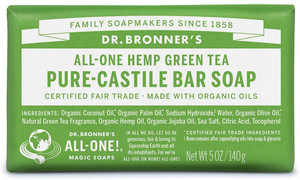 Dr Bronner's All-One Hemp Green Tea Pure-Castile Soap 140g