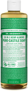 Dr Bronner's 18-In-1 Hemp Almond Pure Castile Liquid Soap 473ml
