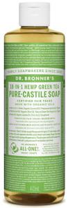Dr Bronner's 18-In-1 Green Tea Castile Liquid Soap 473ml