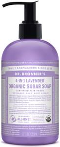 Dr Bronner's 4-In-1 Lavender Organic Sugar Soap 356ml