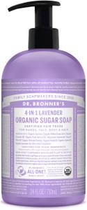 Dr Bronner's 4-In-1 Sugar Lavender Organic Pump Soap 709ml