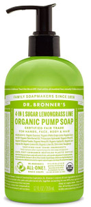Dr Bronner's Sugar Lemongrass Lime Organic Pump Soap 356ml