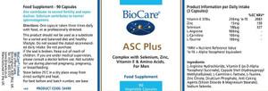 BioCare ASC Plus 90 Capsules