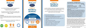 BioCare Children's Red Berry BioMelts 28 Sachets