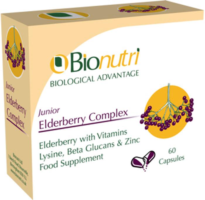 Bionutri Junior Elderberry Complex 60 Capsules