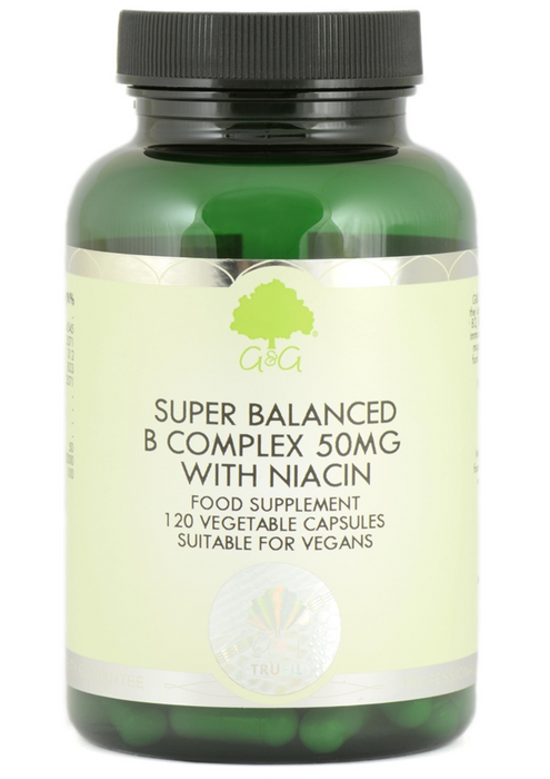 G&G B-Complex 50mg With Niacin 120 Capsules