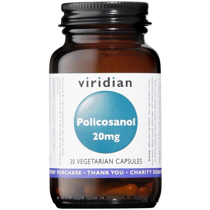 Viridian Policosanol 20mg 30 Capsules