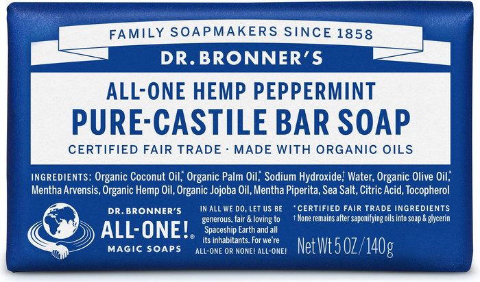 Dr Bronner's All-One Hemp Peppermint Pure-Castile Soap 140g