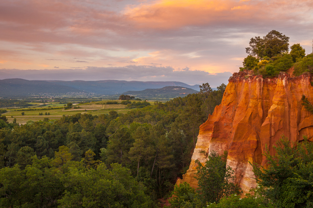 Sunset from Roussillon, Provence