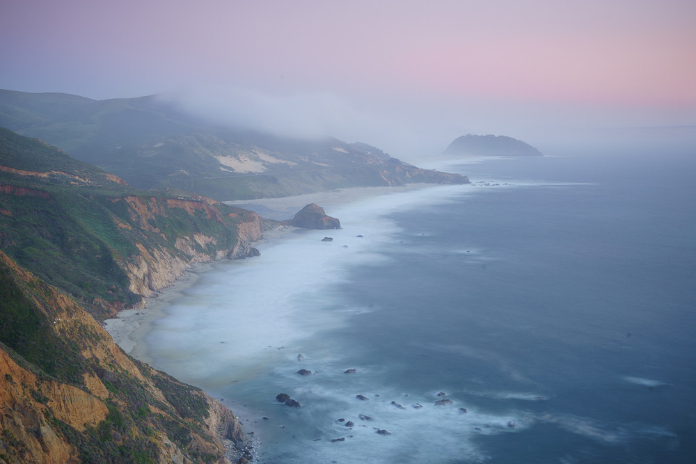 Misty Sunset - Big Sur