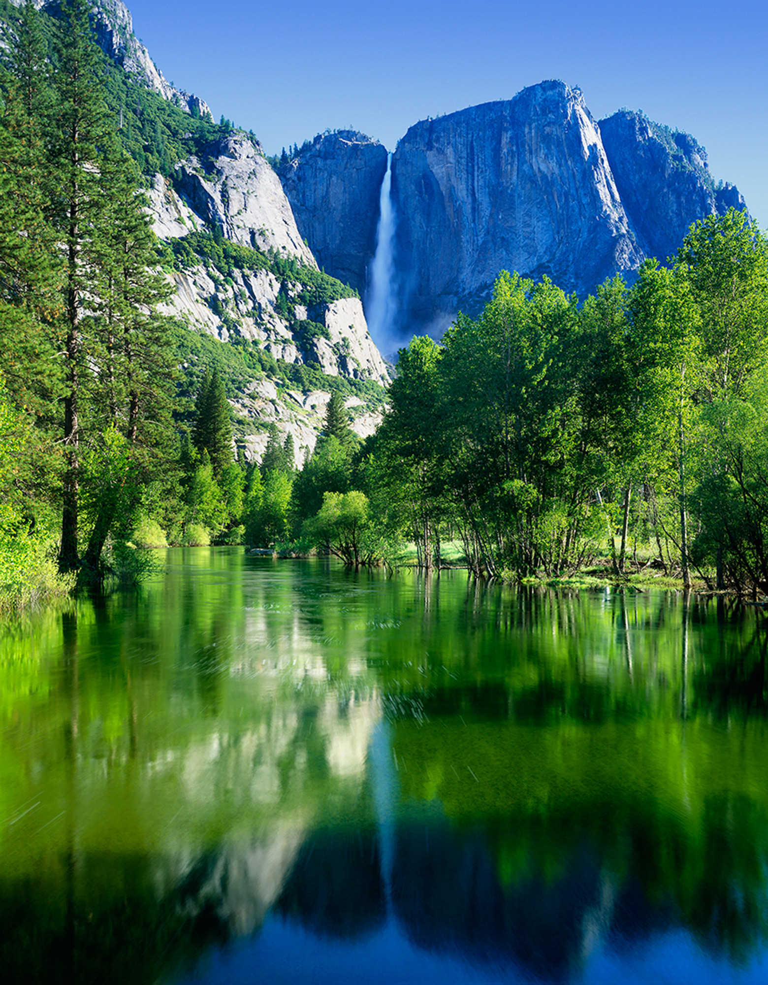 Springtime Yosemite Falls Vern Clevenger Photography