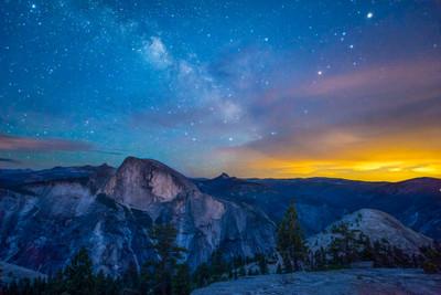 Half Dome and the Night Sky