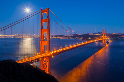 Moonrise and the Golden Gate Bridge