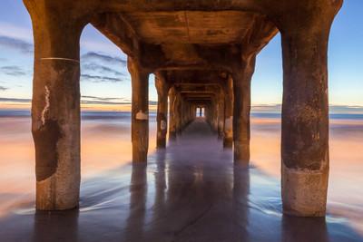 Dusk, Southern California Pier