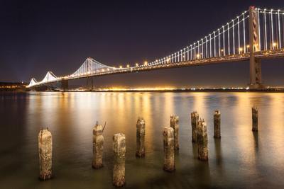 Dusk over the Bay Bridge - San Francisco