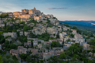 Sunset at Gordes, Provence