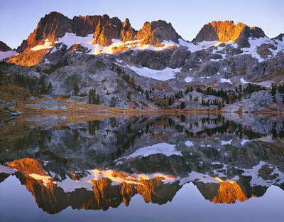 Alpenglow and the Minarets, Lake Ediza