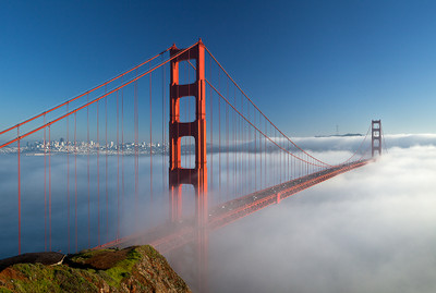 Golden Gate Bridge and Winter Fog