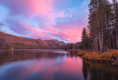 Late Autumn, Moonrise, Lake Mary