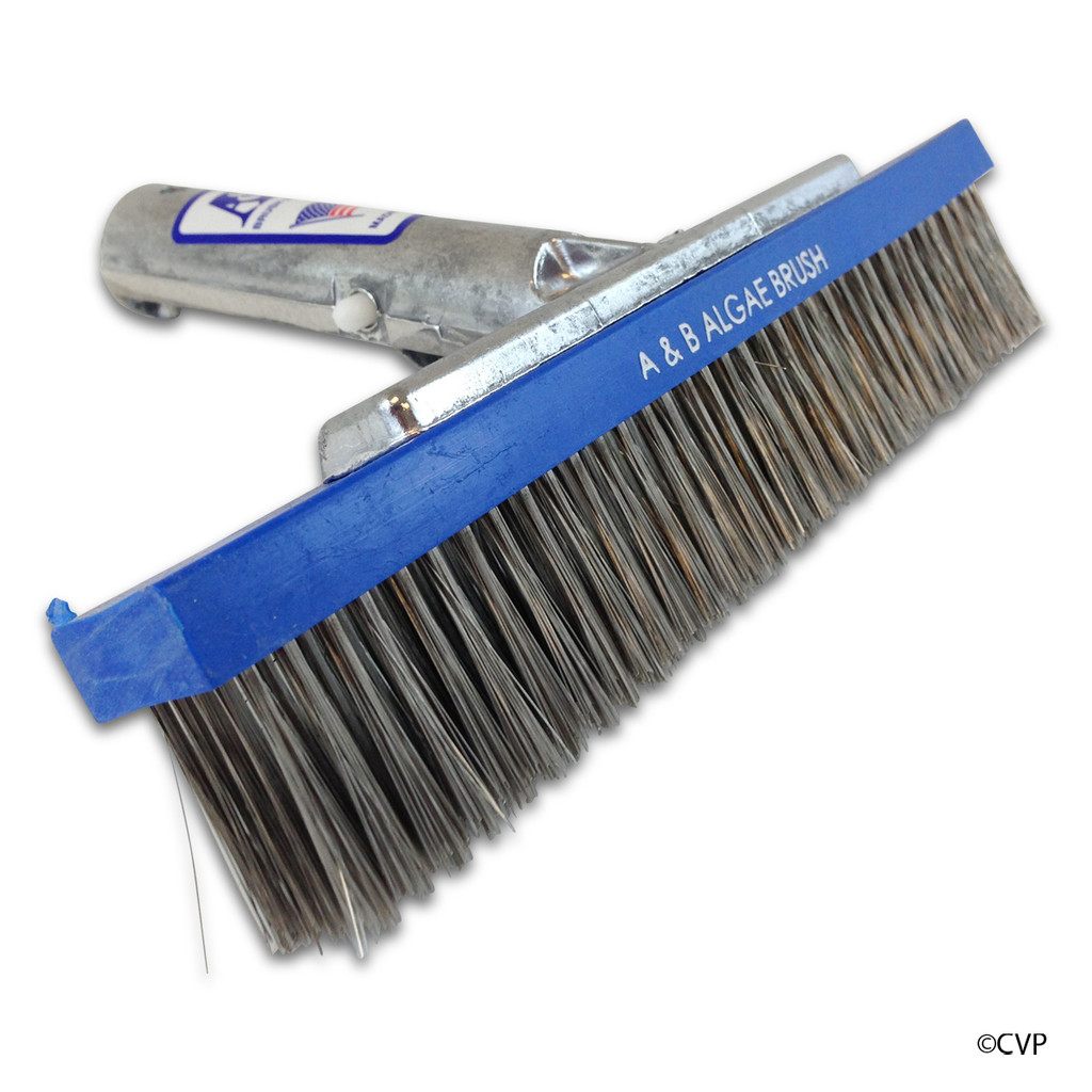 "A&B Brush | BRUSH 9"" M BACK ALGAE SS 