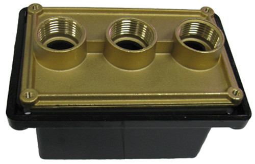 ELETRICAL | 3-HOLE JUNCTION BOX BLACK | JBP75175