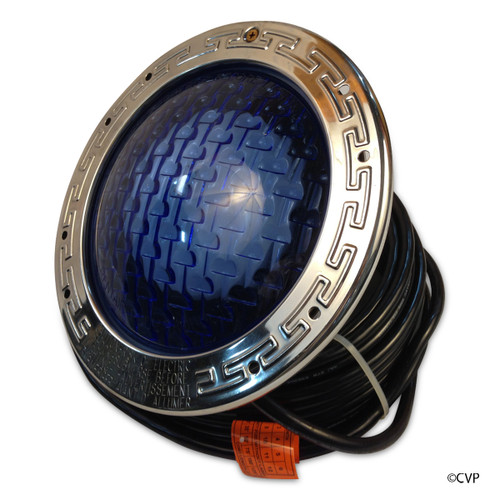 PENTAIR | LIGHT 400 WATT 120V 30' SS BL LENS | Amerlite Underwater Incandescent Light with Stainless Steel Medium Blue Lens Face Ring, 400 WATT | 78444200